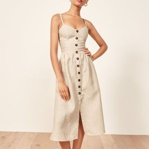Reformation Thelma Dress In Sand